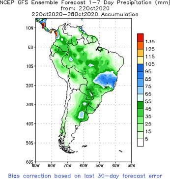 SA Week 1 Accum Precipitation (mm) Forecast