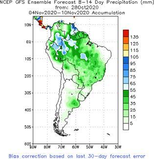 SA Week 2 Accum Precipitation (mm) Forecast