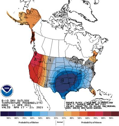 6 to 10 Day Outlook - Temperature Probability
